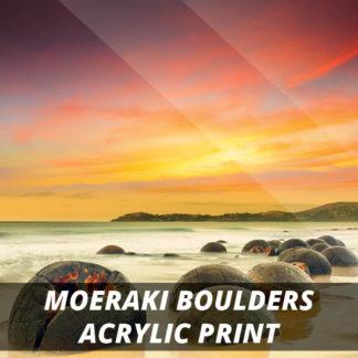 Moeraki Boulders NZ Fine Art Acrylic Print 20x20
