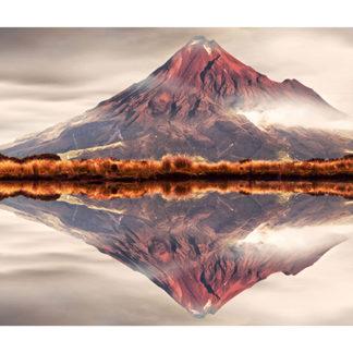 "Mt Taranaki Framed Canvas Art 32""x11"""