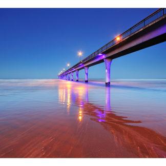 "New Brighten Pier Framed Canvas Art 29""x19"""