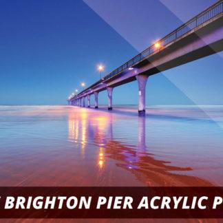 New Brighton Pier NZ Fine Art Acrylic Print A1