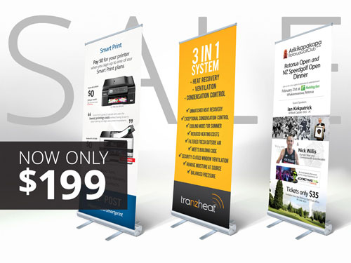 Pull up display banners brandpost nz new banner stand normally 299 solutioingenieria Image collections