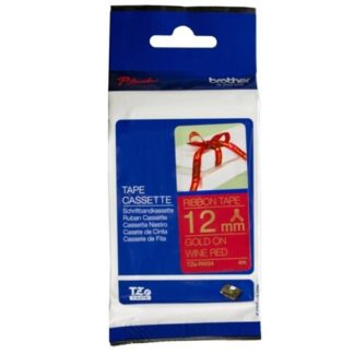 Brother TZERW34 Gold on Red Ribbon Tape 4mx12mm