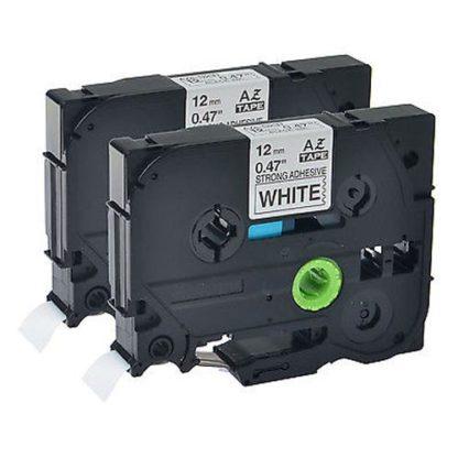 Brother TZES231 12mm x 8m Black on White Tape