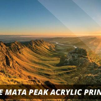 Te Mata Peak NZ Fine Art Acrylic Print A2