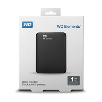 "WD Elements Portable 2.5"" USB 3.0 1TB Black External HDD"