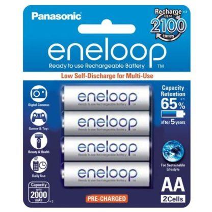 Panasonic Eneloop AA Rechargeable 4pk