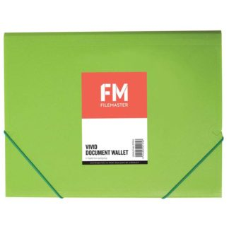 FM Document Wallet Vivid Lime Green A4