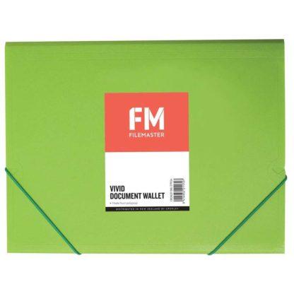 FM Document Wallet Vivid Lime Green A4