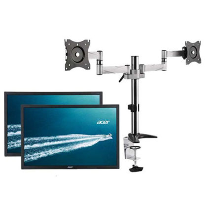 Ex-Lease Dual 22 inch LCD Monitor with Arm