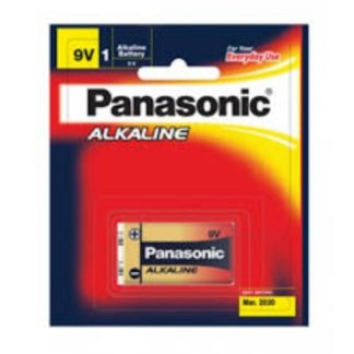 Panasonic Alkaline 9 volt Battery 1pk
