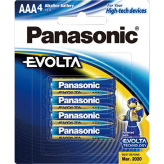 Panasonic Evolta AAA Batteries 4pk